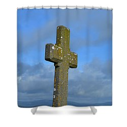 Cross At Cashel Shower Curtain