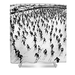 Cross Country Ski Race Shower Curtain