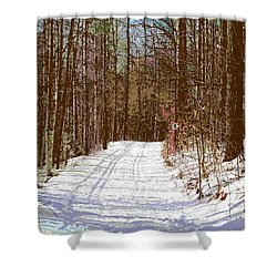 Shower Curtain featuring the photograph Cross Country Trail by Nina Silver