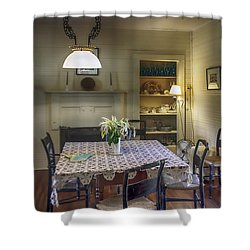 Cross Creek Country Dining Shower Curtain by Lynn Palmer