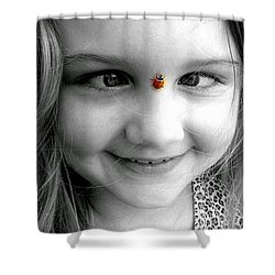 Shower Curtain featuring the photograph Cross-eyed For Ladybugs by Faith Williams