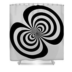 Shower Curtain featuring the digital art Cross Eyed by Nick Kloepping