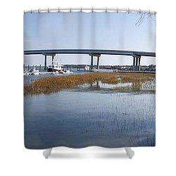 Cross Island Bridge Hilton Head Shower Curtain