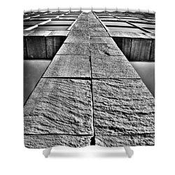 Cross Shower Curtain by Mark Alder