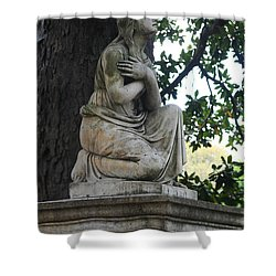 Shower Curtain featuring the photograph I Cross My Heart Angel by Lesa Fine