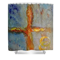 Cross Of Endless Love Shower Curtain