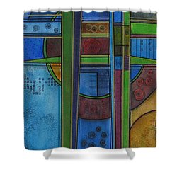 Shower Curtain featuring the painting Cross Roads by Nicole Nadeau