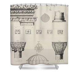 Cross Section And Architectural Details Of Kutciuk Aja Sophia The Church Of Sergius And Bacchus Shower Curtain by D Pulgher