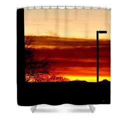 Cross The Skies Shower Curtain
