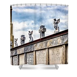 Crosses And Angels Shower Curtain by Kathleen K Parker