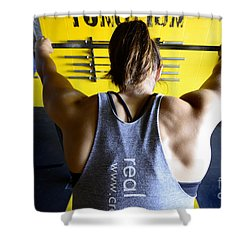 Crossfit 3 Shower Curtain by Bob Christopher
