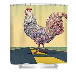 Crossing Chicken Shower Curtain