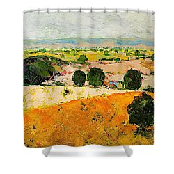 Crossing Paradise Shower Curtain by Allan P Friedlander