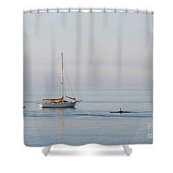 Crossing Paths Shower Curtain by Mike  Dawson