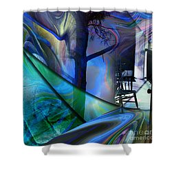 Shower Curtain featuring the painting Crossing Roads by Allison Ashton