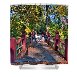Crossing The Crim Dell Bridge Shower Curtain by Jerry Gammon