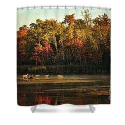 Crossing The Lake Shower Curtain