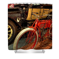 Crouch Motorcycle Shower Curtain