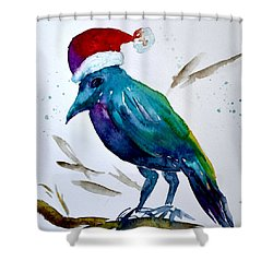 Crow Ho Ho Shower Curtain by Beverley Harper Tinsley