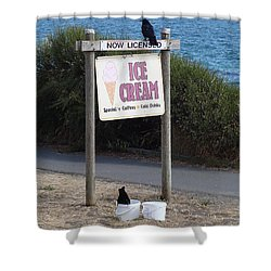 Shower Curtain featuring the photograph Crow In The Bucket by Cheryl Hoyle