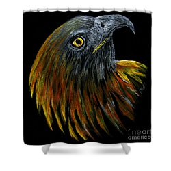 Crowhawk Original Shower Curtain by Peter Piatt