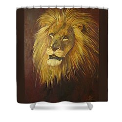 Crown Of Courage,lion Shower Curtain