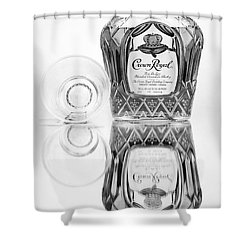 Crown Royal Black And White Shower Curtain