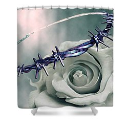 Crowned Shower Curtain by Jennifer Kathleen Phillips