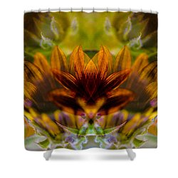 Crowned  Shower Curtain by Omaste Witkowski
