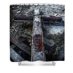 Crucifixion Shower Curtain by Margie Hurwich