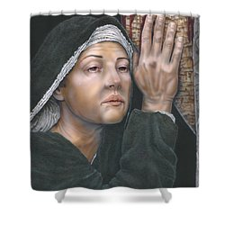 Crucifixion- Mothers Pain Shower Curtain