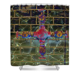 Cruciform The Second Shower Curtain by MJ Olsen