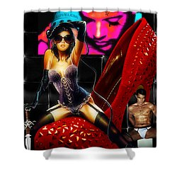Cruela Black Shower Curtain