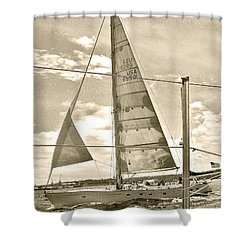Cruise On Wind Shower Curtain