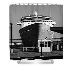 Cruise Ship Still Life Shower Curtain by Bob Orsillo