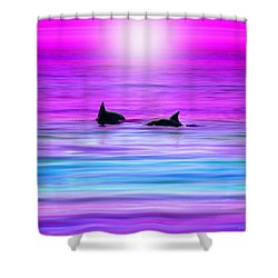 Cruisin' Together Shower Curtain by Holly Kempe