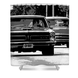 Cruisin' Woodward Shower Curtain by Gordon Dean II