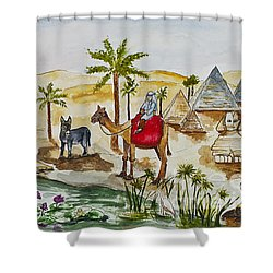 Cruising Along The Nile Shower Curtain