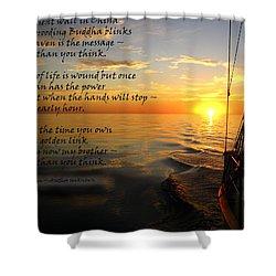 Cruising Poem Shower Curtain by Anne Mott
