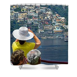 Cruising The Amalfi Coast Shower Curtain