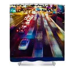 Cruising The Strip Shower Curtain by Alex Lapidus