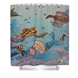 Crush'n'squirt Shower Curtain by Dianna Lewis