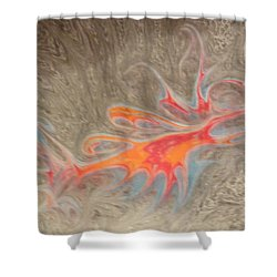 Shower Curtain featuring the painting Crustacean by Mike Breau