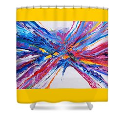 Crux Shower Curtain by Expressionistart studio Priscilla Batzell