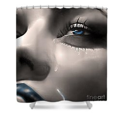 Cryin Da Blues Shower Curtain by Tbone Oliver