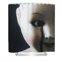 Crying Blood Shower Curtain by Joana Kruse