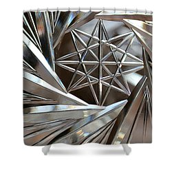 Crystal Abstract Shower Curtain
