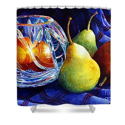 Crystal And Pears Shower Curtain