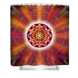 Shower Curtain featuring the drawing Crystal Ball Of Light by Derek Gedney