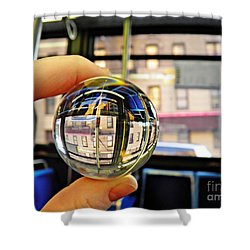 Crystal Ball Project 64 Shower Curtain by Sarah Loft